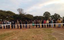 Scores of people in Marikana lined up to cast their votes on 7 May 2014. Picture: Vumani Mkhize/EWN.