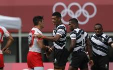 Defending Olympic champions Fiji defeated Japan in their Olympic match at the Tokyo Stadium on 26 July 2021. Picture: @WorldRugby/Twitter
