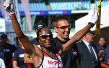Ludwick Mamabolo became the first South African to win the Comrades since 2005 on 3 June 2012. Picture: Aletta Gardner/EWN