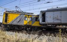 Two trains collided near the Elandsfontein station in Johannesburg on Thursday morning leaving one person dead and over 100 injured. Picture: Reinart Toerien/EWN