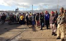 Nomzamo residents who were evicted, are blocking roads in anticipation of further evictions. Picture: Carmel Loggenberg/EWN.