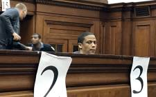 Mortimer Saunders seen in court on  29 May 2018. He has pleaded guilty to a charge of Courtney Pieters's murder but insists it was not premeditated. Picture: Lauren Isaacs/EWN