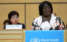FILE: Christine Kaseba-Sata delivers a speech during the 67th World Health Assembly at the European headquarters of the United Nations in Geneva, Switzerland, 20 May 2014. Picture: EPA.