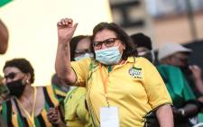 ANC deputy secretary general Jessie Duarte at the party's launch of its local government elections manifesto in Tshwane on 27 September 2021. Picture: Abigail Javier/Eyewitness News