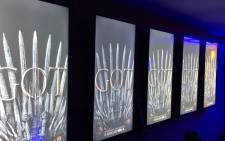 Posters of Game of Thrones at the Nu Metro Cinema in Hyde Park. Picture: @Numetro/Twitter