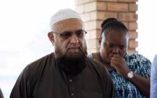 MEC for Community Safety Sizakele Nkosi-Malobane and MEC for Roads and Transport Ismail Vadi address the media after visiting the family of the young man killed while working for Taxify. Picture: Ihsaan Haffejee/EWN.