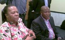 ANC Youth League President Julius Malema and Education Minister Naledi Pandor. Picture: Gia Nicolaides/ Eyewitness News