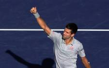 Novak Djokovic continued with awe-inspriing form with a 7-5 4-6 6-3 win over Tomas Berdych. Picture: AFP.