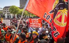 FILE. Cosatu's last congress resolved to protest against the bill and now that it's been signed, the union says its resources will be directed at the campaign. Picture: Thomas Holder/EWN