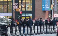 FILE: FBI and police respond to a reported explosion at the Port Authority Bus Terminal on 11 December 2017 in New York. Picture: AFP.