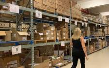 At a massive facility in the Cape Town CBD, various COVID-19 vaccines are stored on shelves in boxes on 4 February 2020. Picture: Kaylynn Palm/Eyewitness News.