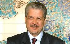 File photo of newly elected Algerian Prime Minister Abdelmalek Sellal. Picture: AFP.