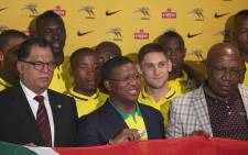 A send off was held for South African soccer team Bafana Bafana at the Tambo International Airport for the 2015 Africa Cup of Nations on 7 January 2015. Picture: Reinart Therein/EWN