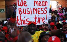 Members of the South African Democratic Teachers Union on a wage strike. Picture: EWN