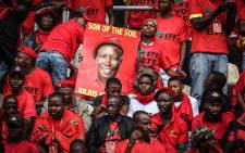 EFF supporters at the Giant Stadium in Soshanguve on 2 February for the party's election manifesto launch. Picture: Abigail Javier/EWN