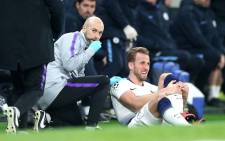 Tottenham Hotspur's England striker Harry Kane after being injured in a match Manchester City on 9 April 2019. Picture: Twitter/SpursOfficial