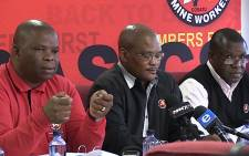National Union of Mineworkers expressed their agreement with outcome of Marikana Report. Picture: Louise McAuliffe/EWN.