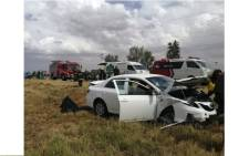 FILE: The scene of an accident in Thaba Nchu where five people were killed and four others injured on 1 December 2018. Picture: ER24.