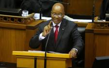 FILE: President Jacob Zuma in Parliament. Picture: AFP.