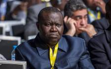 In this file photo taken on 2 February 2018 Central African Republic's football federation chief Patrice Edouard Ngaissona attends the 40th CAF ordinary general assembly in the Moroccan city of Casablanca. Picture: AFP.