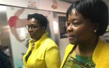 Minister Ayanda Dlodlo and Gauteng health MEC Gwen Ramokgopa at Rahima Moosa Mother and Child Hospital in Johannesburg. Picture: Mia Lindeque/EWN.