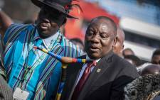 President Cyril Ramaphosa pictured dancing after his inauguration ceremony at the Loftus Versfeld Stadium in Pretoria on 25 May 2019. Picture: Abigail Javier/EWN.