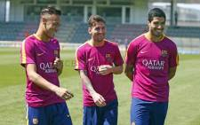 Barcelona FC players during training on 21 May 2016. Picture: ‏@FCBarcelona.