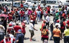 Protesters gather at the Mary Fitzgerald Square in Johannesburg on 14 November 2018. They are calling on the office of the Premier to receive their memorandum of demands. Picture: Abigail Javier/EWN
