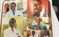 A pamphlet issued at the funeral of professor Bongani Mayosi. Picture: Shamiela Fisher/EWN.