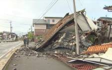 More than one-thousand were injured after quakes hit Kyushu Island in Japan.Picture: Screengrab/CNN