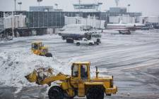 FILE: La Guardia Airport during a snow storm in February 2015. Picture: AFP.