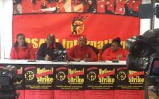 Cosatu leadership declare their readiness for a total shut down on Wednesday against state capture. Picture: @_cosatu/Twitter
