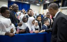 US President Barack Obama visited the Mosque at the Islamic Society of Baltimore on 3 February 2016. Picture: White House/Facebook.