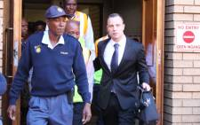 Oscar Pistorius leaves the High Court in Pretoria on 12 May 2014. Picture: Christa Eybers/EWN.