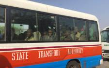 Children kidnapped by Boko Haram from the Government Science Secondary school, in Kankara, in northwestern Katsina State, Nigeria are seen returning after having been freed on 18 December 2020. Picture: AFP
