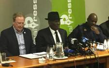 Police Minister Bheki Cele announces breakthroughs in cash-in-transit heists on 6 June 2018. Picture: Gia Nicolaides/EWN