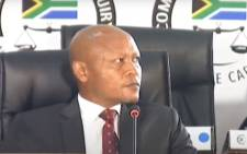 A screengrab of former Kusile Power Station project manager Abram Masango appearing at the state capture inquiry on 1 December 2020. Picture: SABC/YouTube