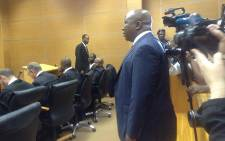 EFF leader, Julius Malema stands in the dock on what was supposed to be day first of his trial on 30 September 2014. Picture: Govan Whittles/EWN.
