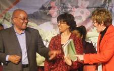 President Jacob Zuma, Tina Joemat-Pettersson and Helen Zille. Picture: EWN