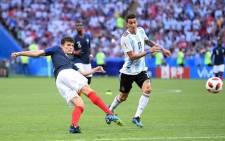 France's Benjamin Pavard strikes his goal. Picture: @BenPavard28/Twitter