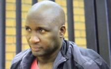 FILE: Former Bafana footballer Lebogang Morula in court on 10 April 2015. Picture: Barry Bateman/EWN.