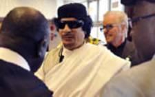 Former Libyan leader Muammar Gaddafi. Picture:AFP