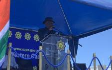 Police Minister Bheki Cele pictured in Mitchells Plain, in Cape Town, on 27 December 2019. Picture: Kaylynn Palm/EWN.