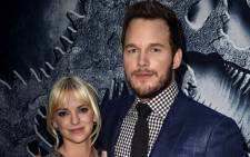 "Actors Chris Pratt (R) and Anna Faris attend the Universal Pictures' ""Jurassic World"" premiere at the Dolby Theatre on 9 June, 2015 in Hollywood, California. Picture: AFP."