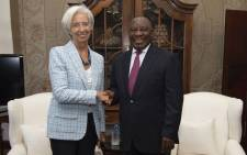 President Cyril Ramaphosa receiving a courtesy call from IMF managing director Christine Lagarde as part of her Africa trip on 19 December 2018. Picture: GCIS