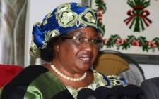 Former Malawi's President Joyce Banda. Picture: AFP