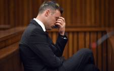 Oscar Pistorius in the North Gauteng High Court on 13 June 2016. Picture: Pool.