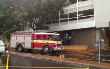 Firefighters at Cavendish Square Shopping Mall. Picture: Via Twitter @callsignvector
