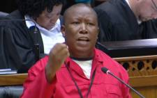 Julius Malema in Parliament on 16 April 2015.  Picture: Youtube