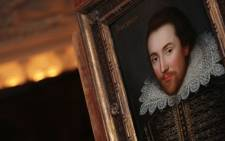 FILE: A portrait of William Shakespeare pictured in London. The portrait, painted in 1610, is believed to be the only surviving picture of William Shakespeare painted in his lifetime. Picture: AFP.